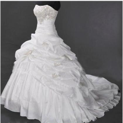 Charming Ruffle Organza Wedding Dre..